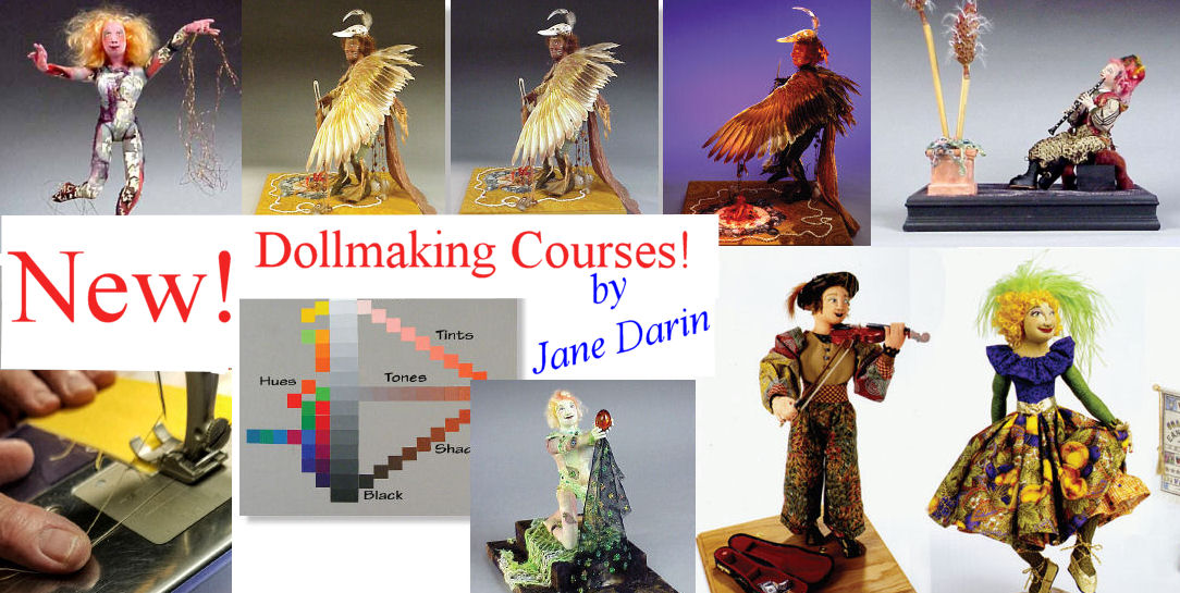 Jane Darin Cloth Doll Artist